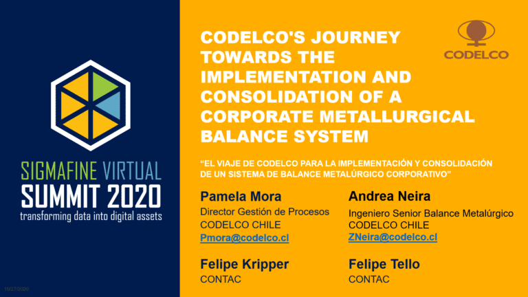 Codelco's journey to implement and consolidate a Corporate Metallurgical Balance System