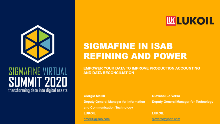 Sigmafine in ISAB refining and power generation